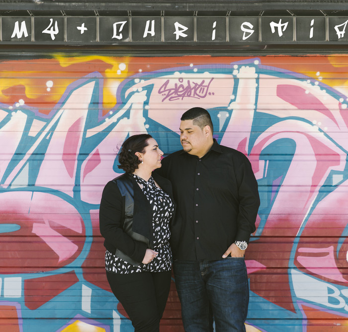 Graffiti Alley Engagement Photos - Amy & Christian