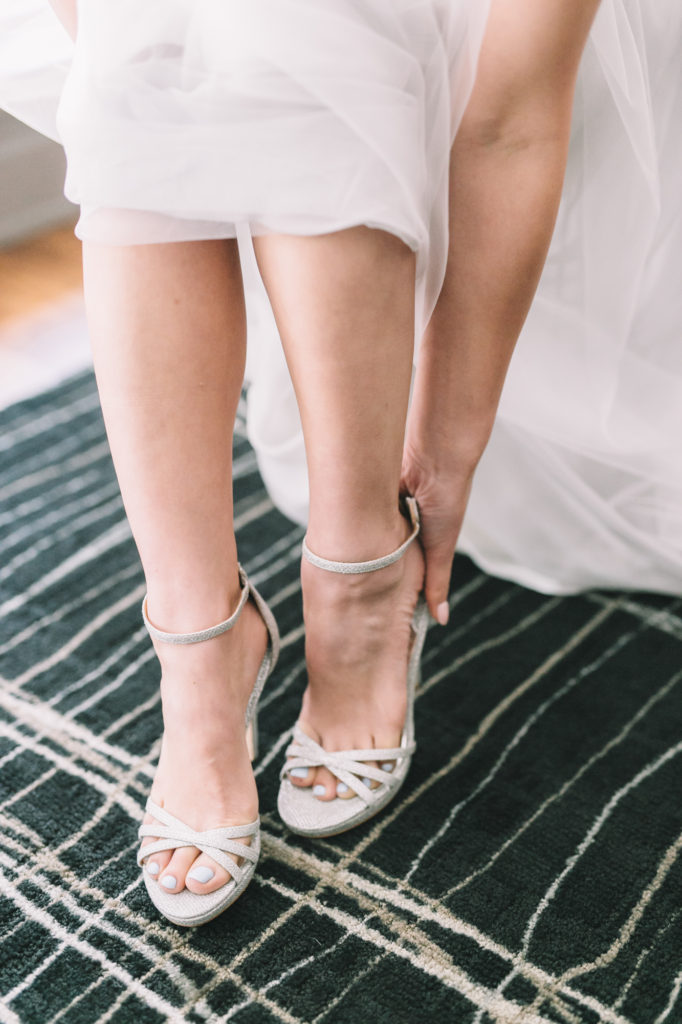 Detail shot of bride's wedding shoes