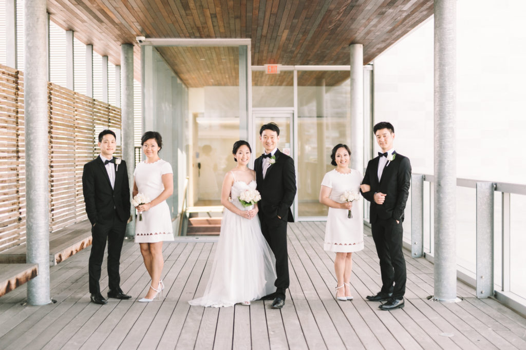 Bridal party photo at Canada's National Ballet School