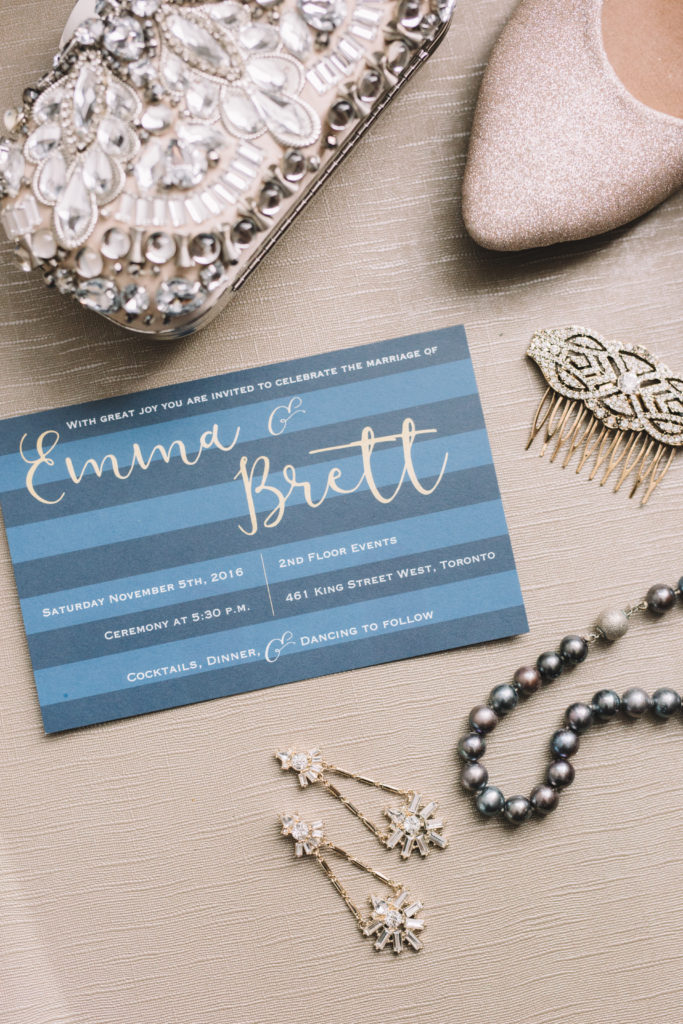 Bride's details from wedding day