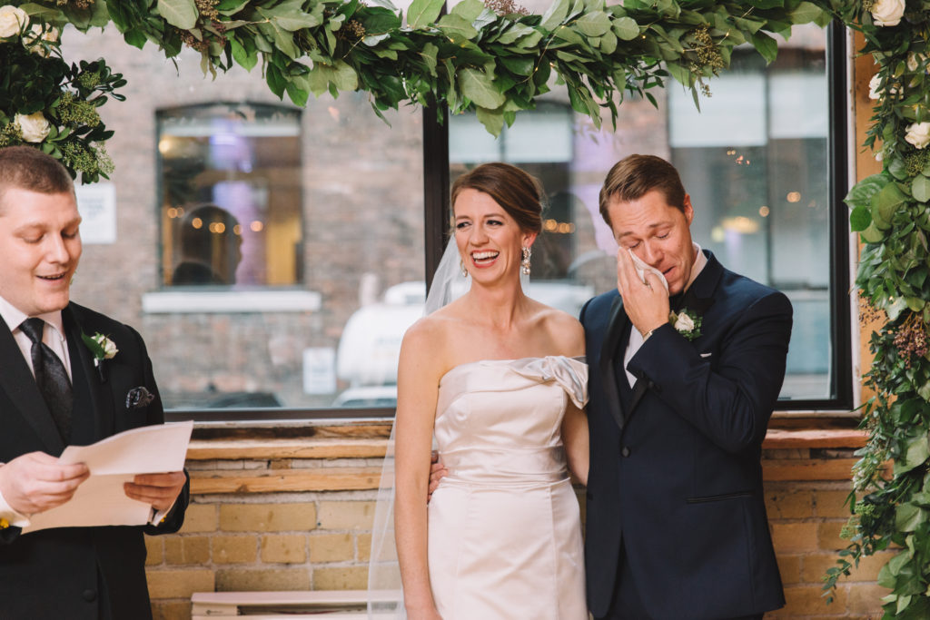 Groom crying during brother's ceremony reading