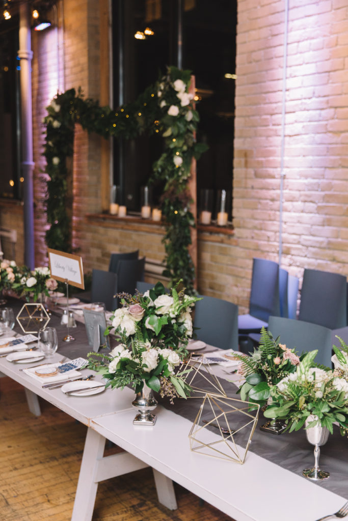 Flora arrangements at 2nd Floor Events