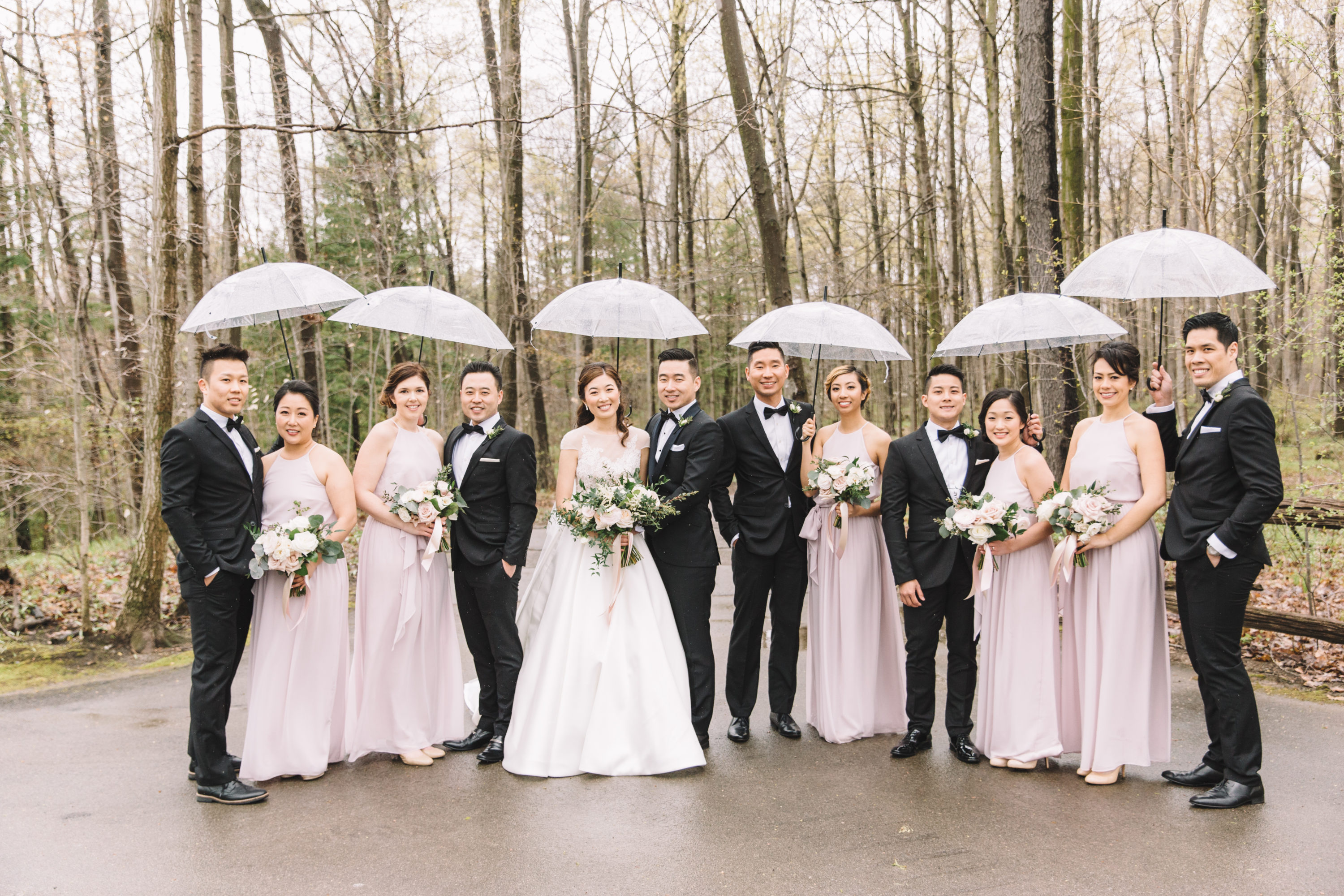 Rainy bridal portrait at Whistle Bear