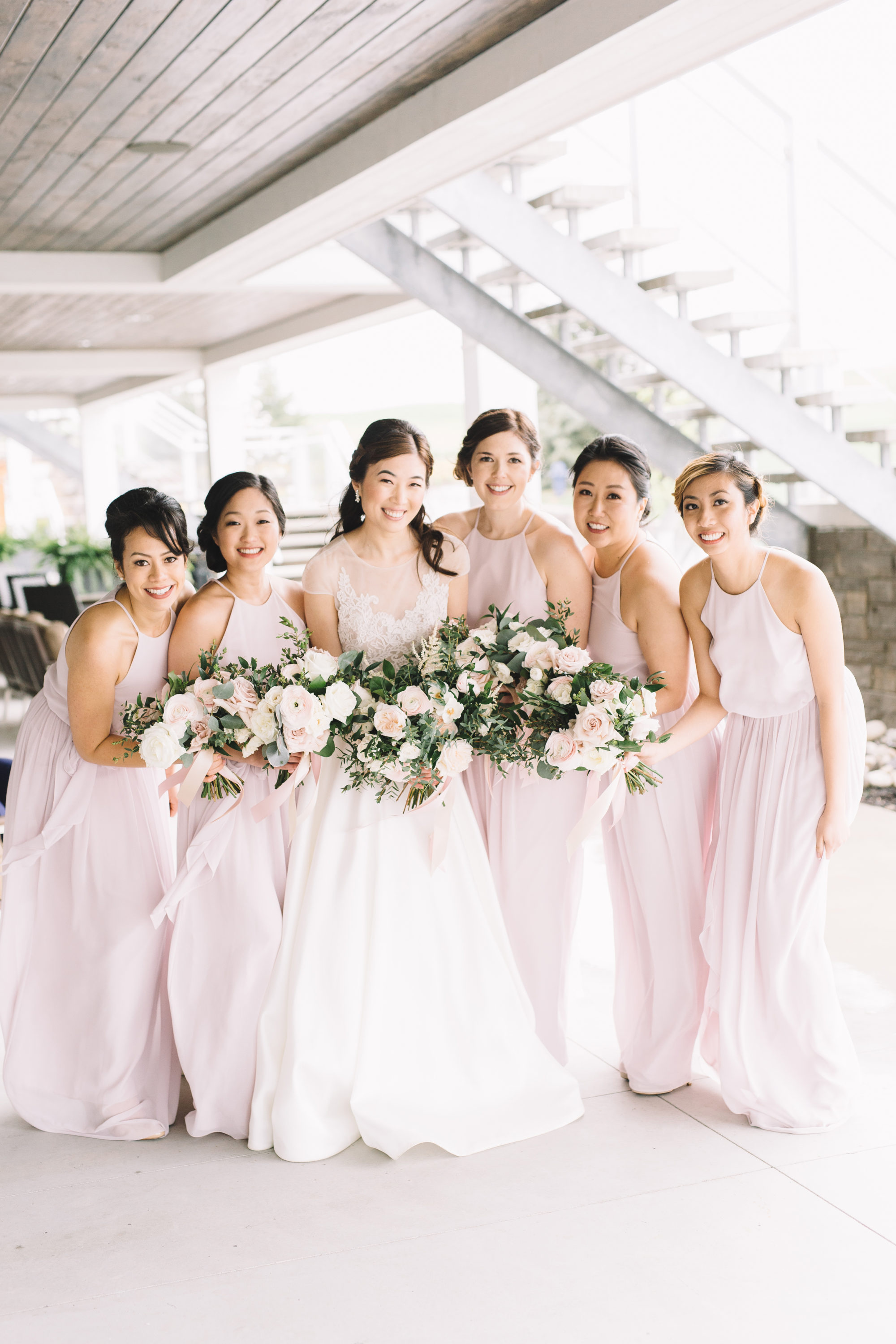 Bride and Bridesmaids at Whistle Bear