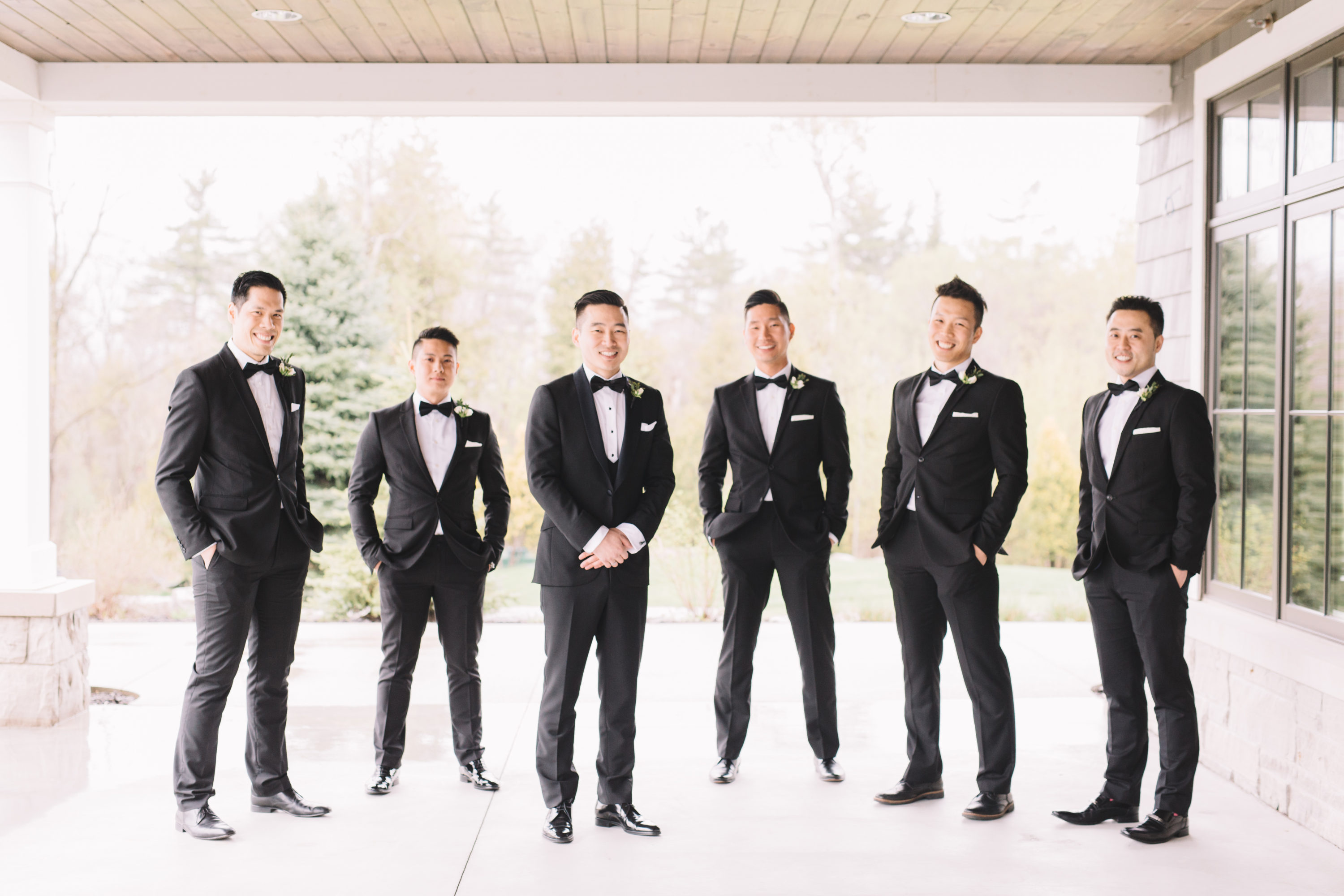 Groom with Groomsmen at Whistle Bear