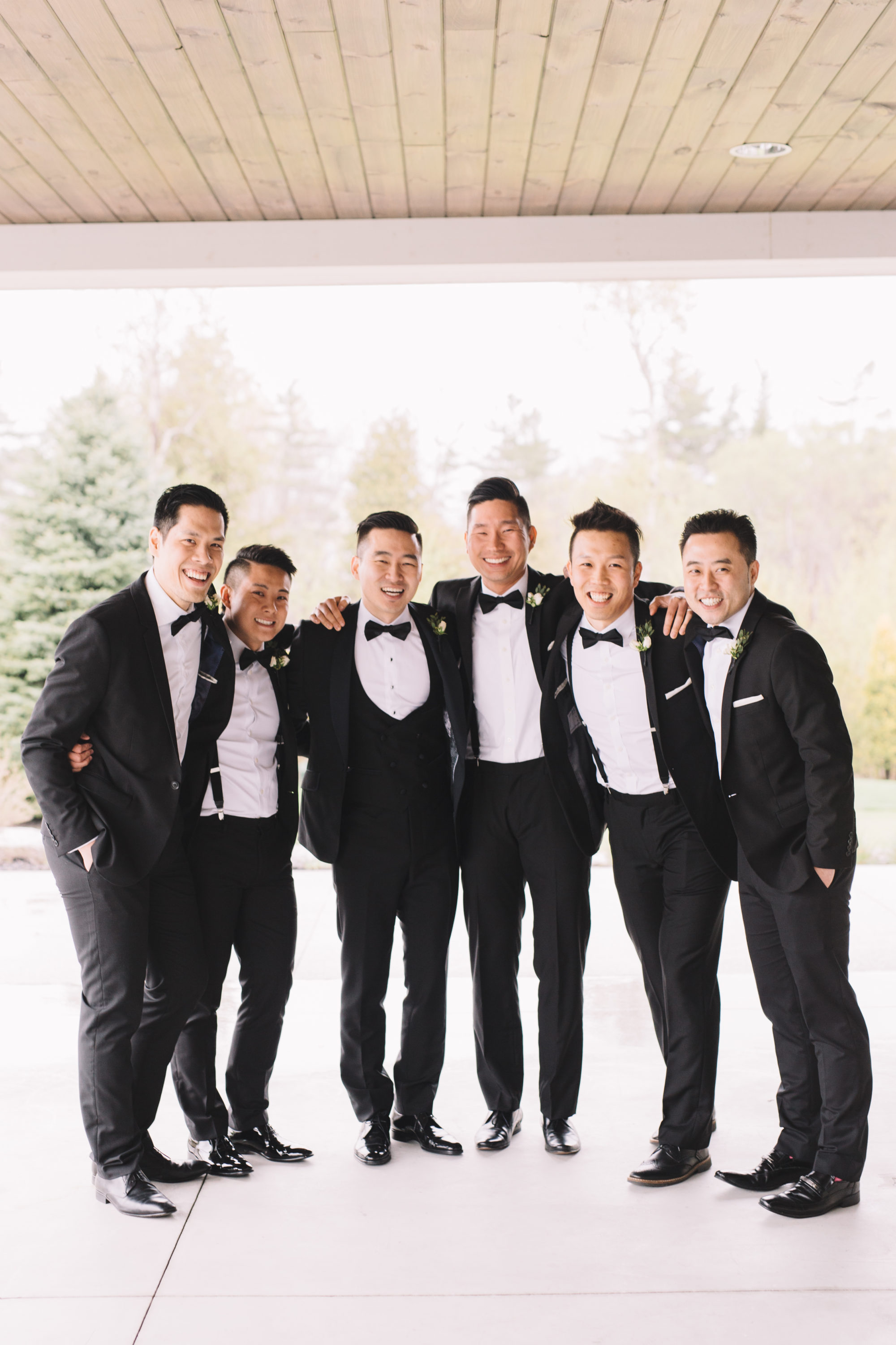 Groom with Groomsmen at Whistle Bear Golf Club