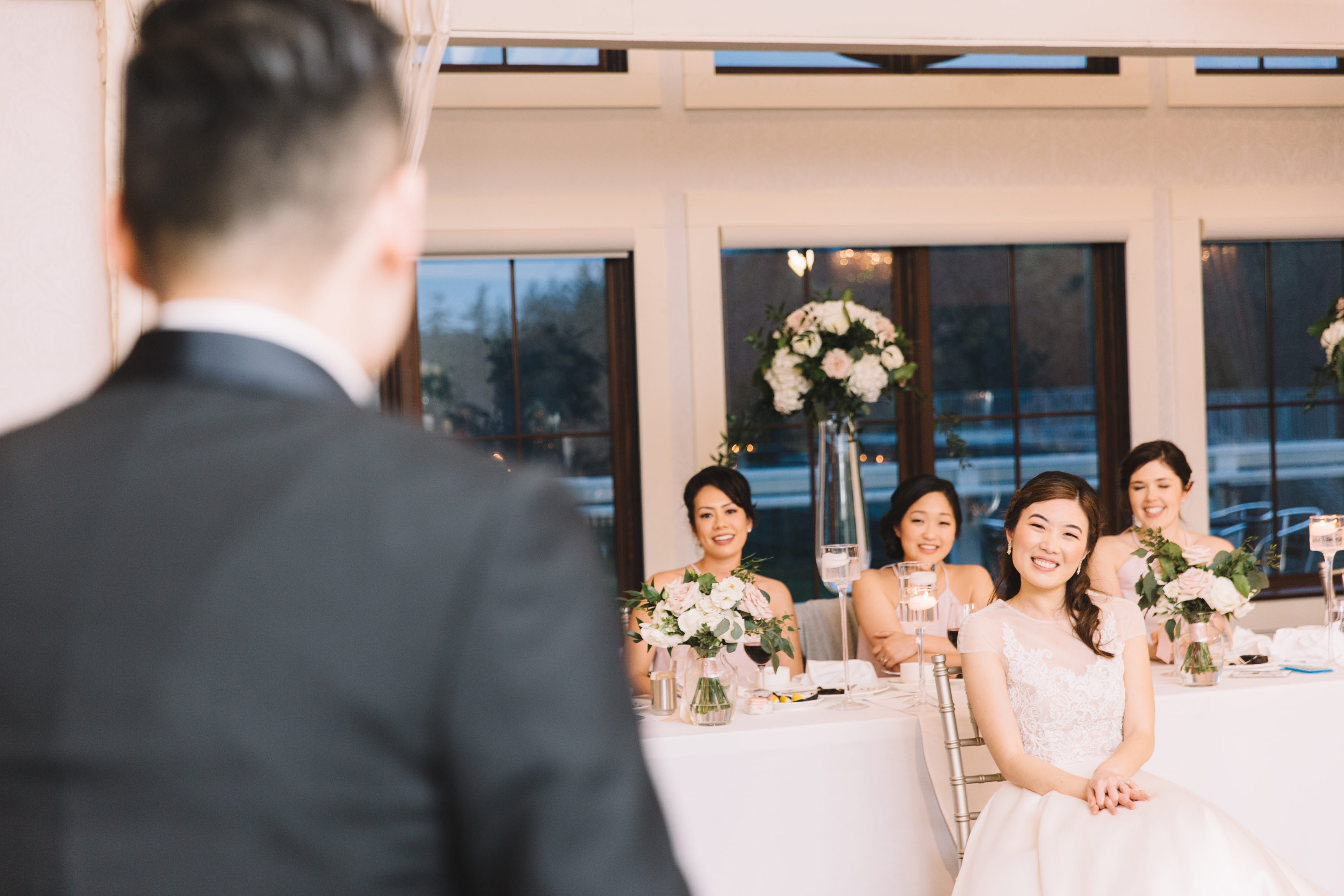 Groom sings to bride at whistle bear wedding