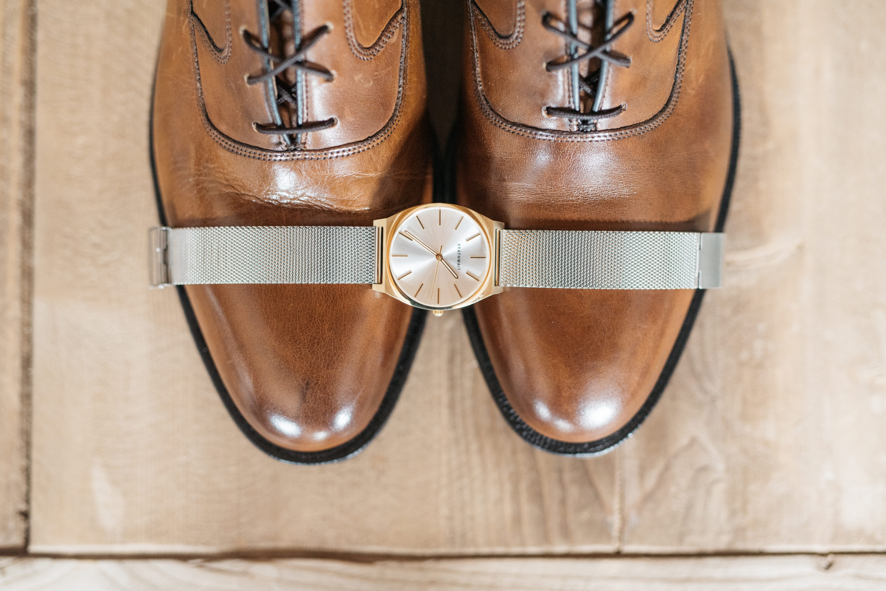 Watch and shoes - Groom wedding details