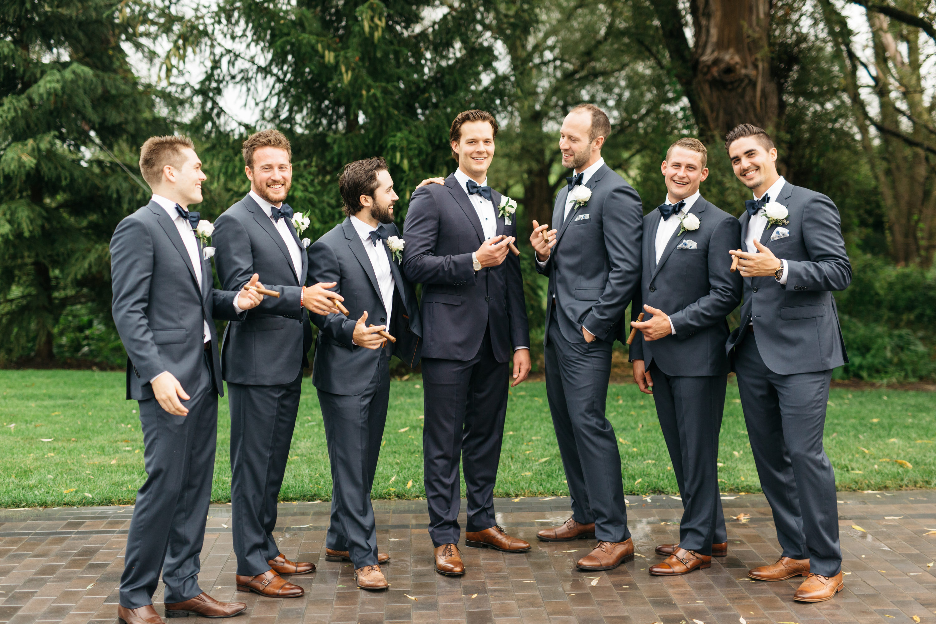 Groom with groomsmen at The Arlington Estate