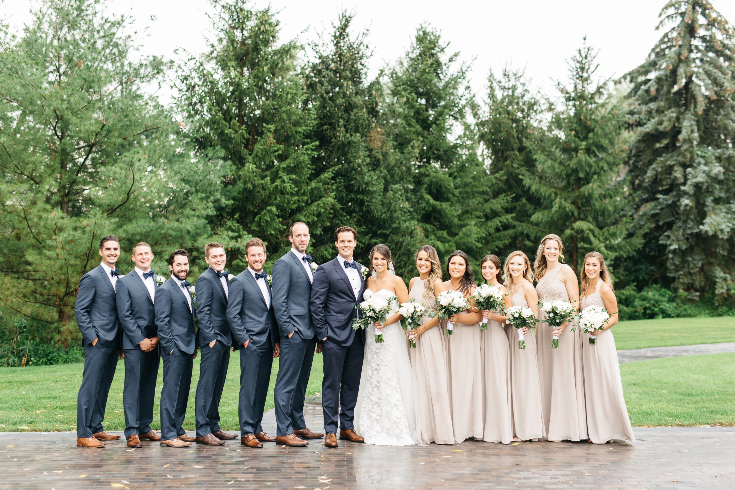 Bridal Party photos taken at The Arlington Estate