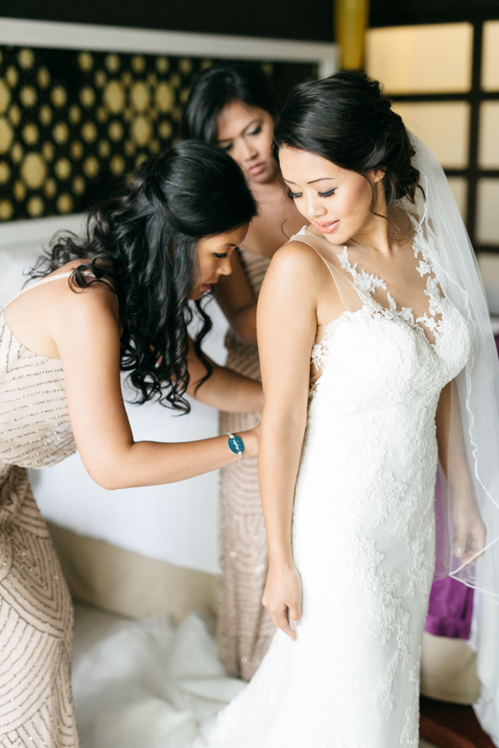 Bride getting ready at Royalton White Sands Resort - Jamaica