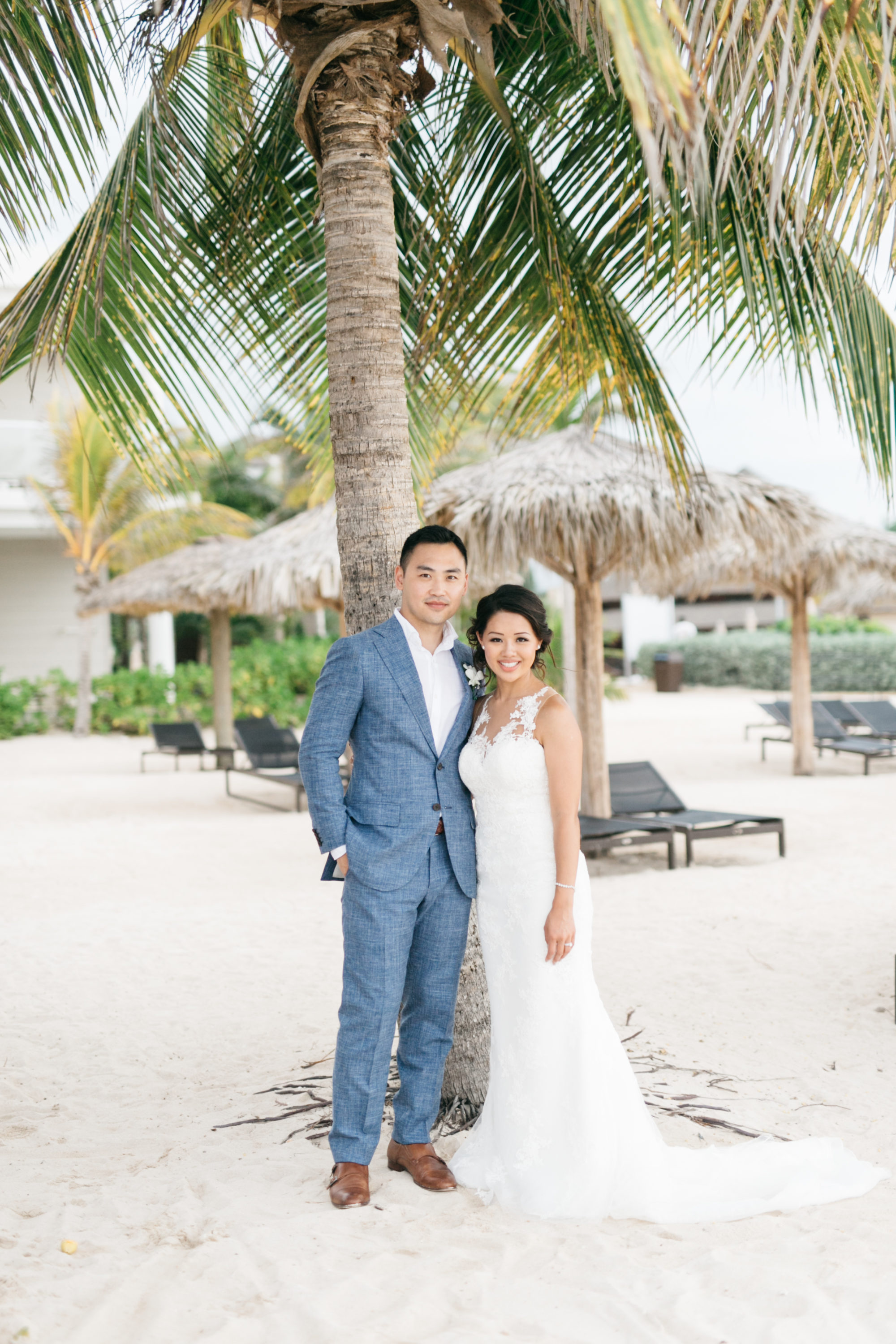 Bride and groom portrait at Royalton White Sands Resort in Montego Bay