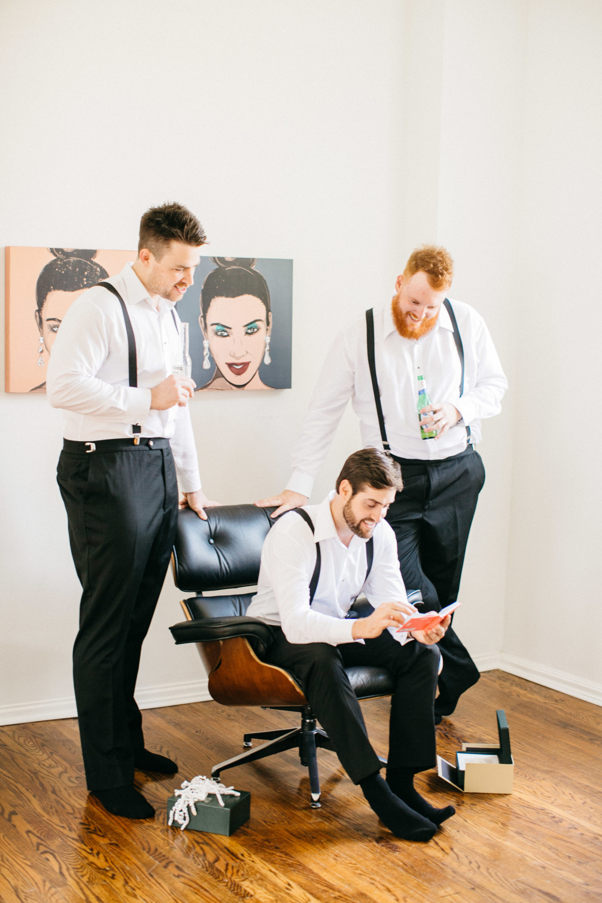 Groom and Groomsmen hanging out