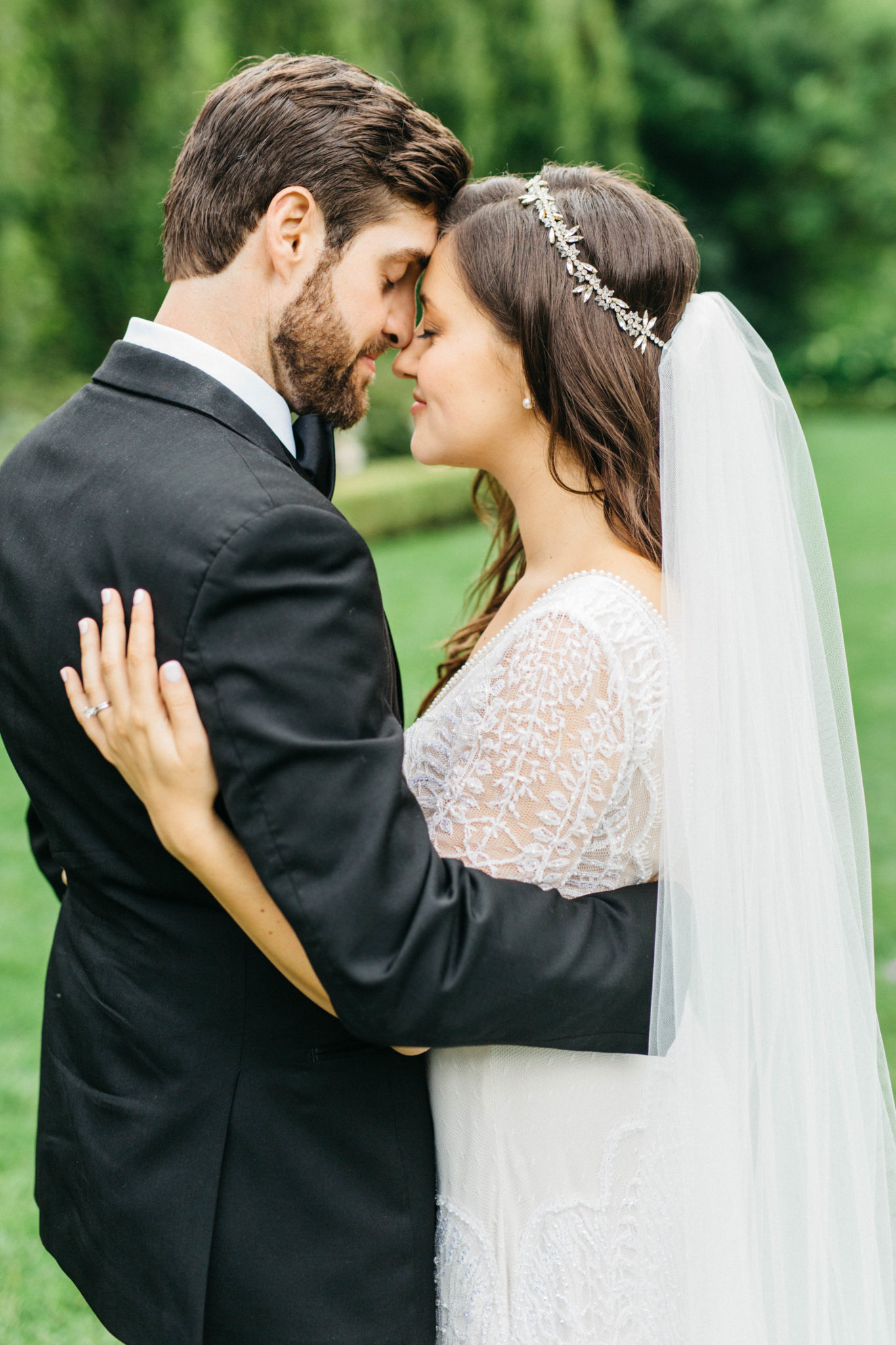 Bride and groom at Graydon Hall Manor