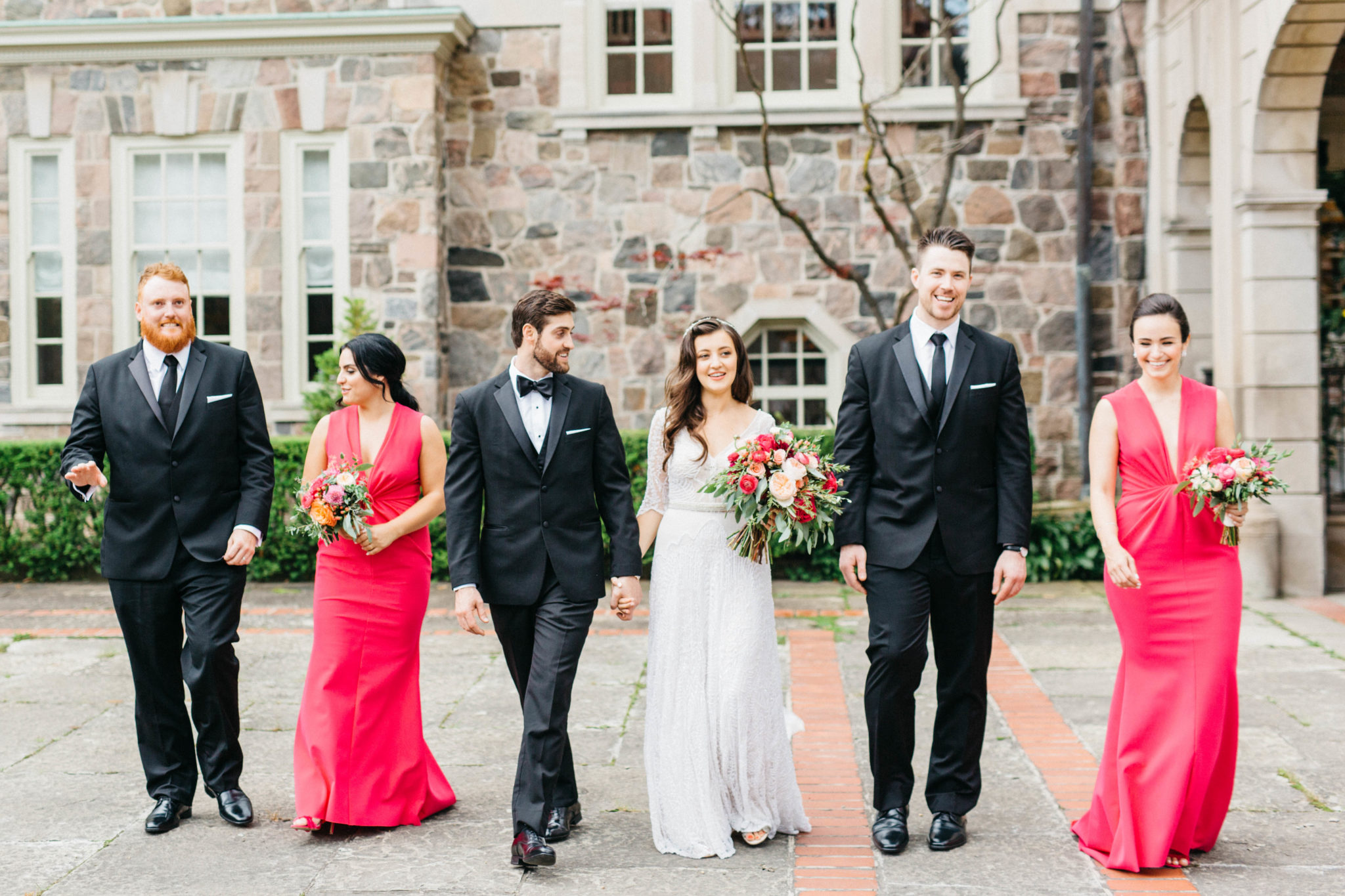 Bridal party shot at Gradyon Hall Manor
