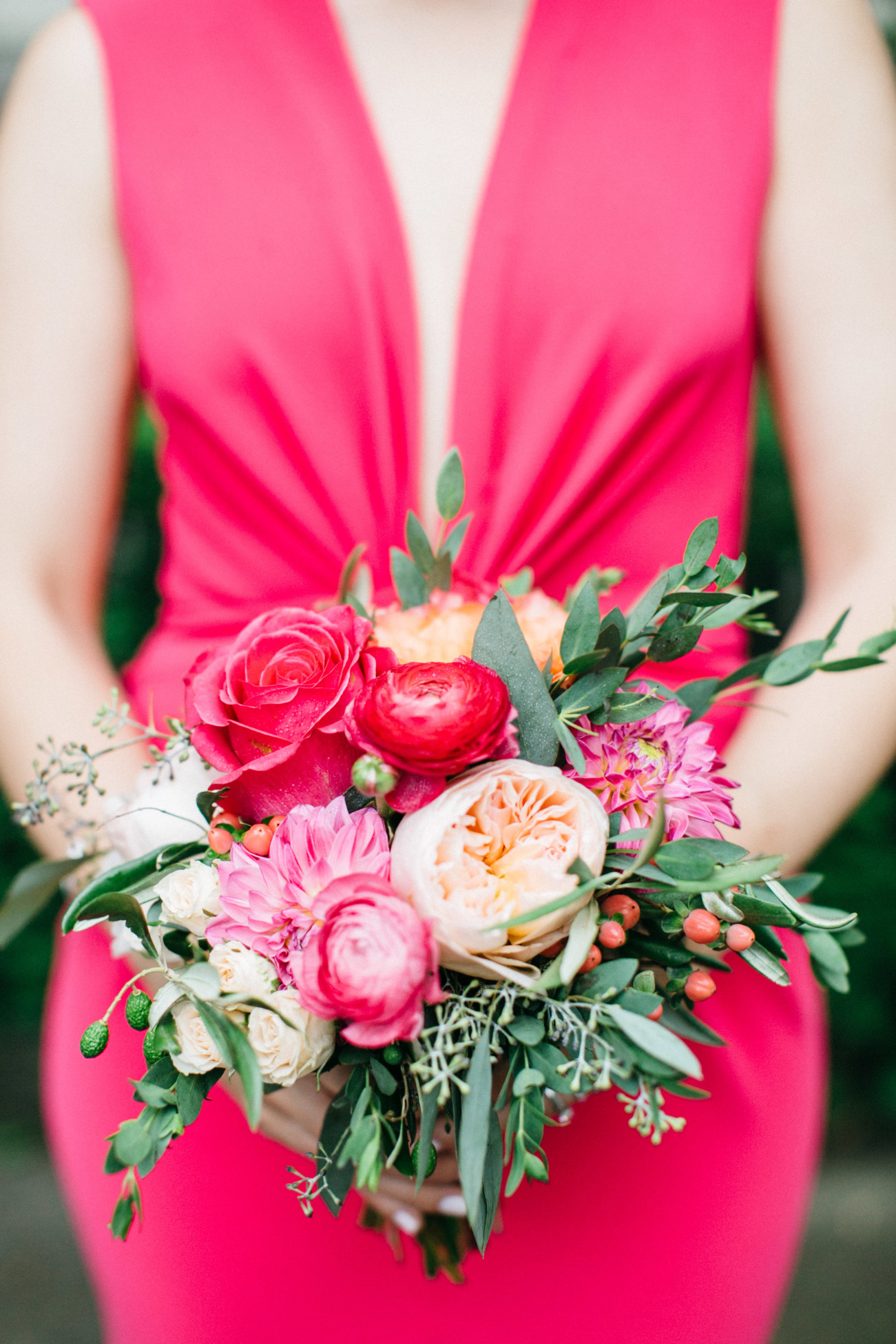 Details of Bridesmaids flowers at Gradyon Hall Manor