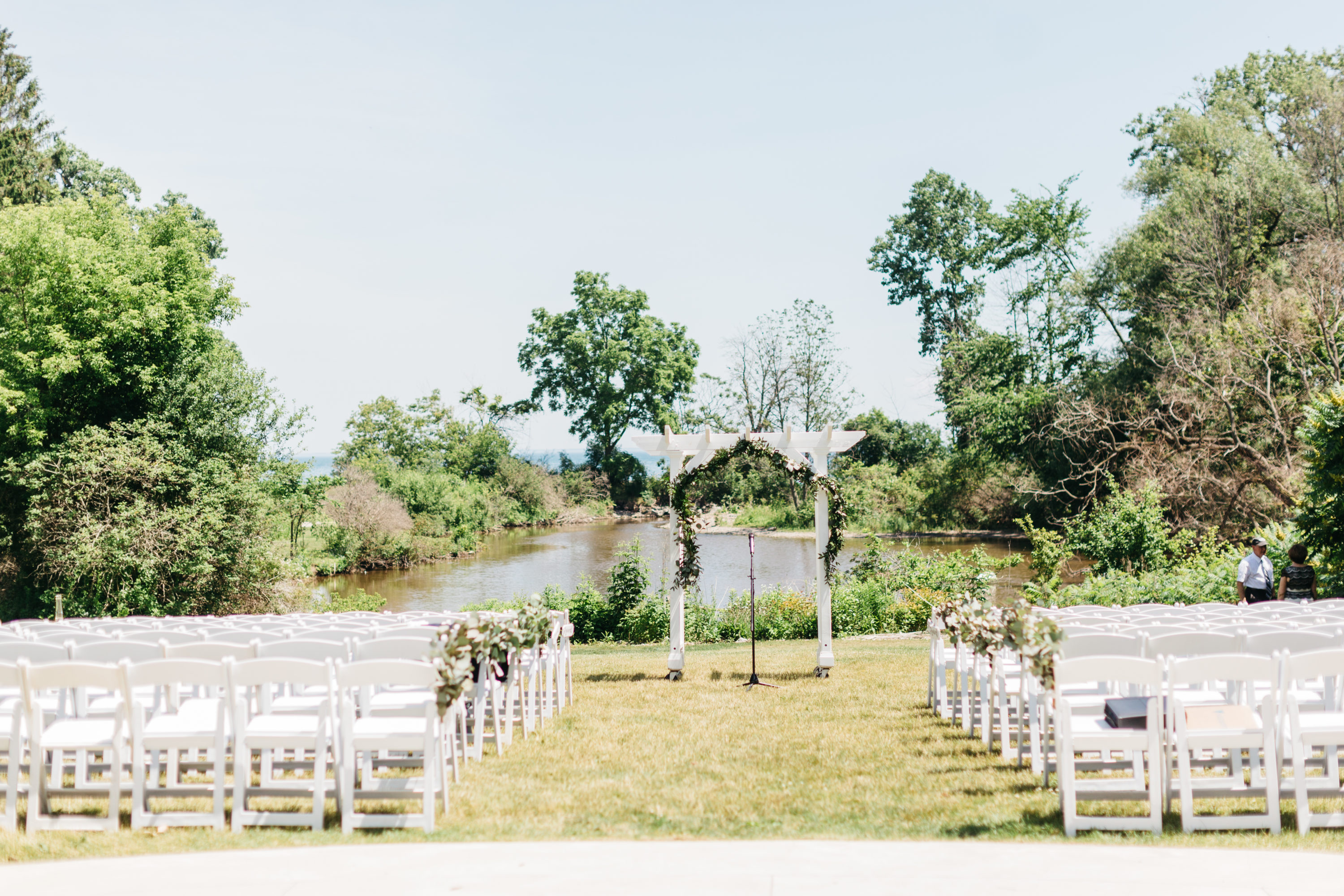 Outside ceremony at Harding Waterfront Estate