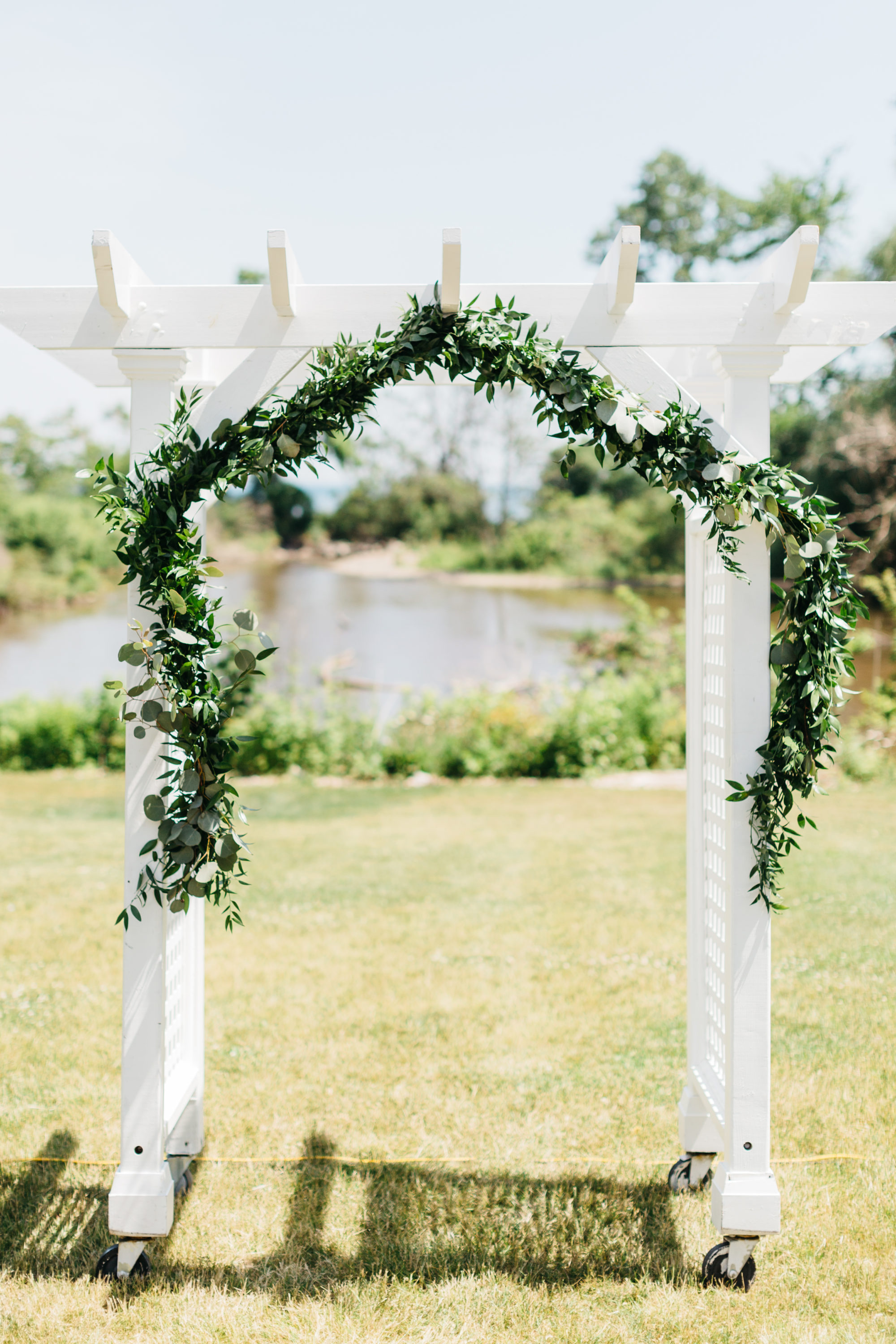 Wedding archway at Harding Waterfront Estate