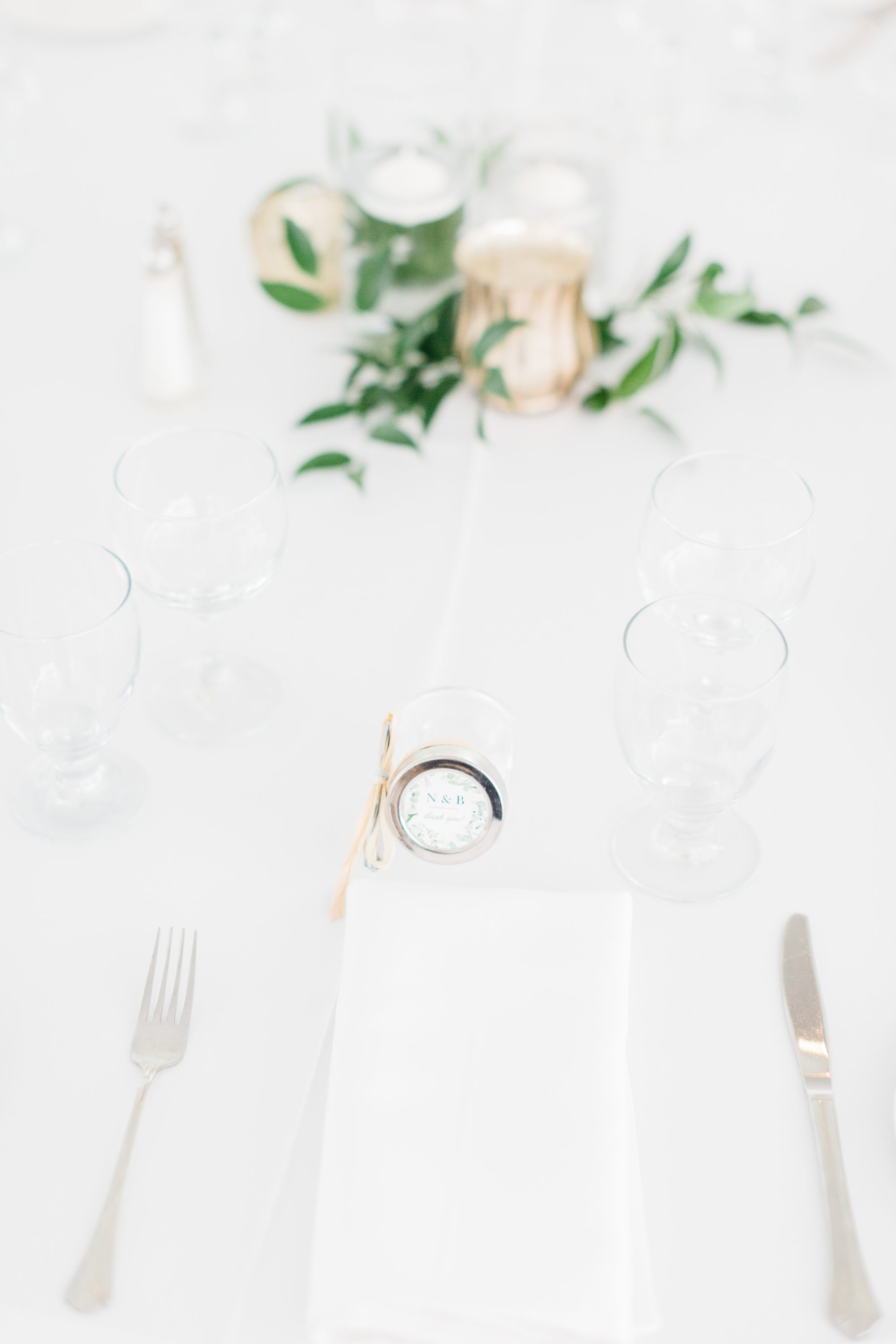 Table details at reception