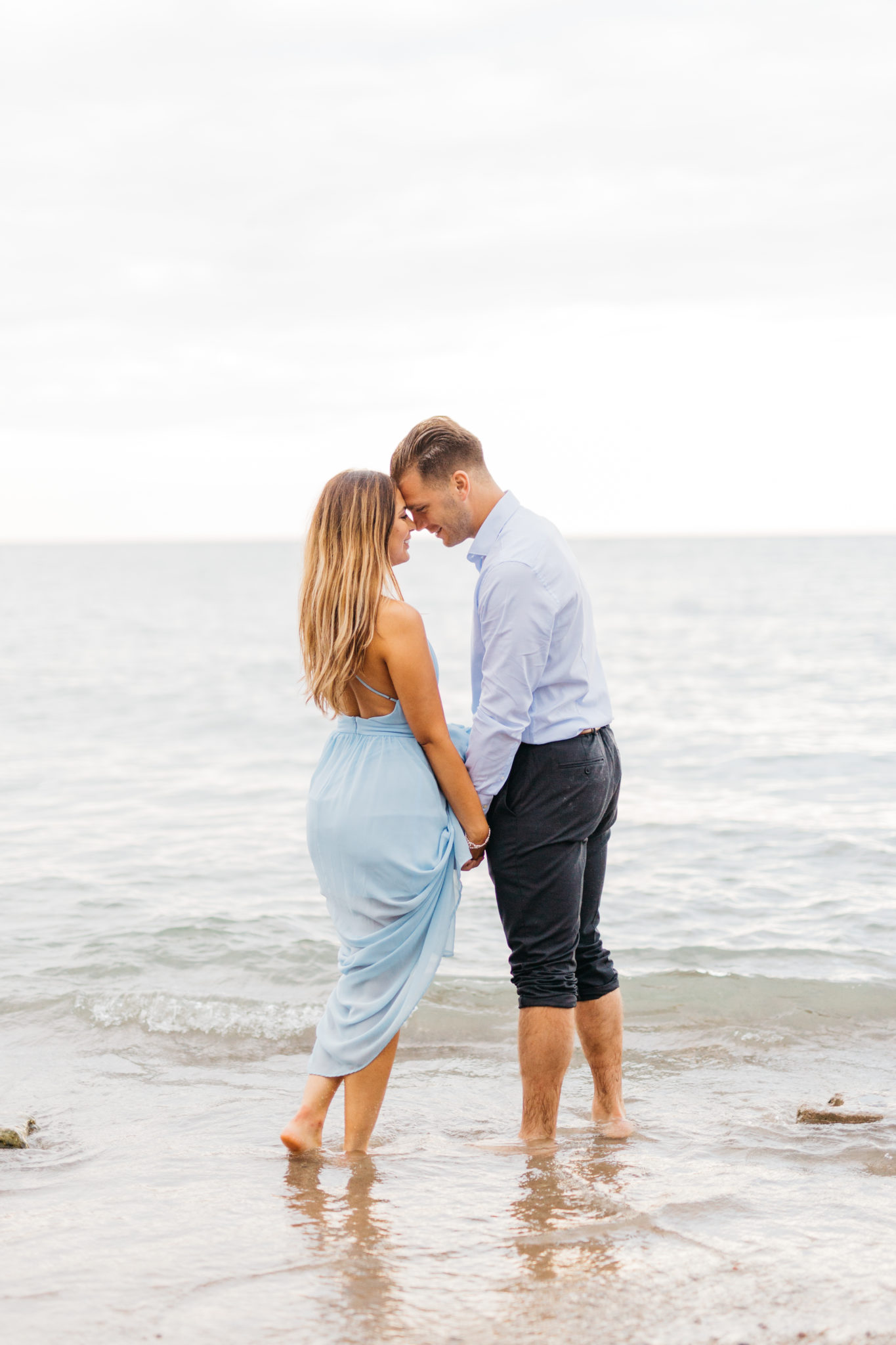 Couple Cuddling in water at Scarborough Bluffs