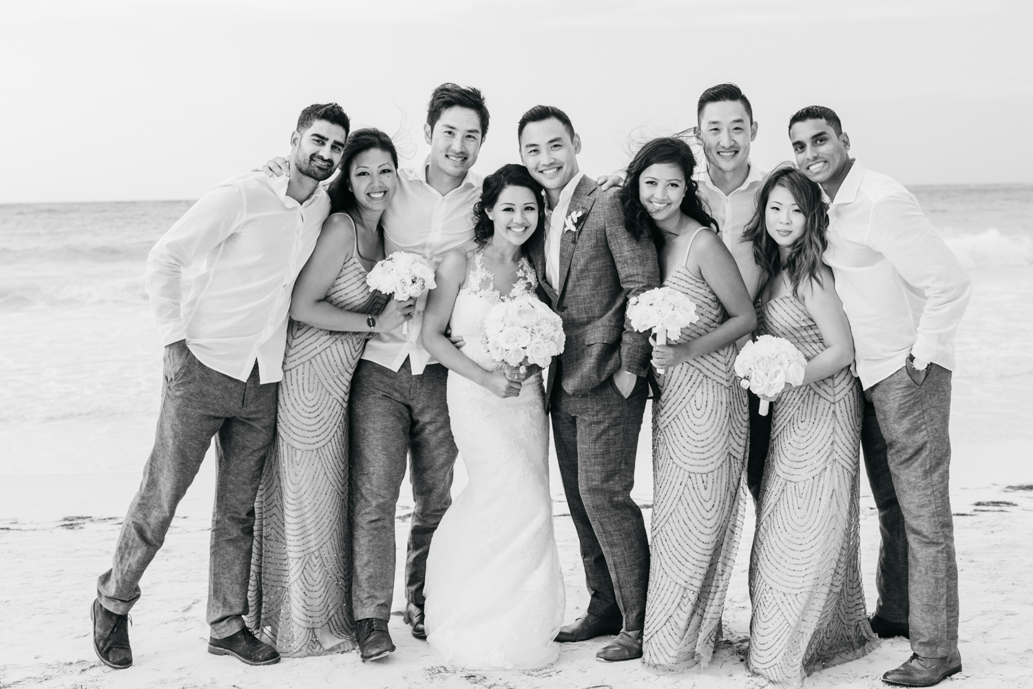 Bridal party photos at Royalton White Sands Resort in Jamaica