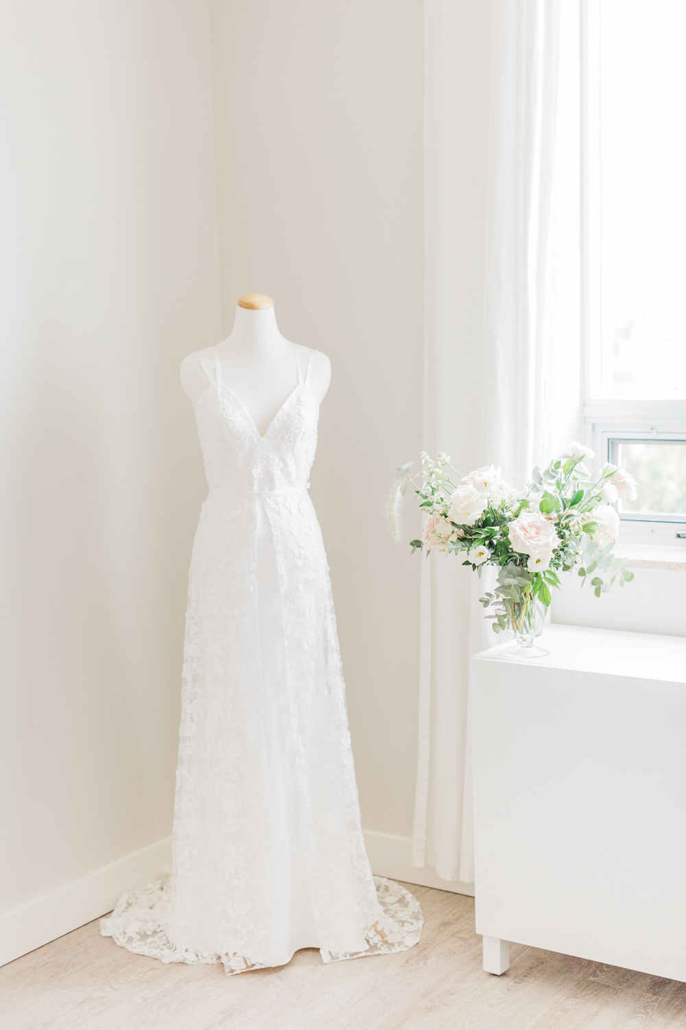Bride's Rime Arodaky dress from The Mews Bridal in New York City
