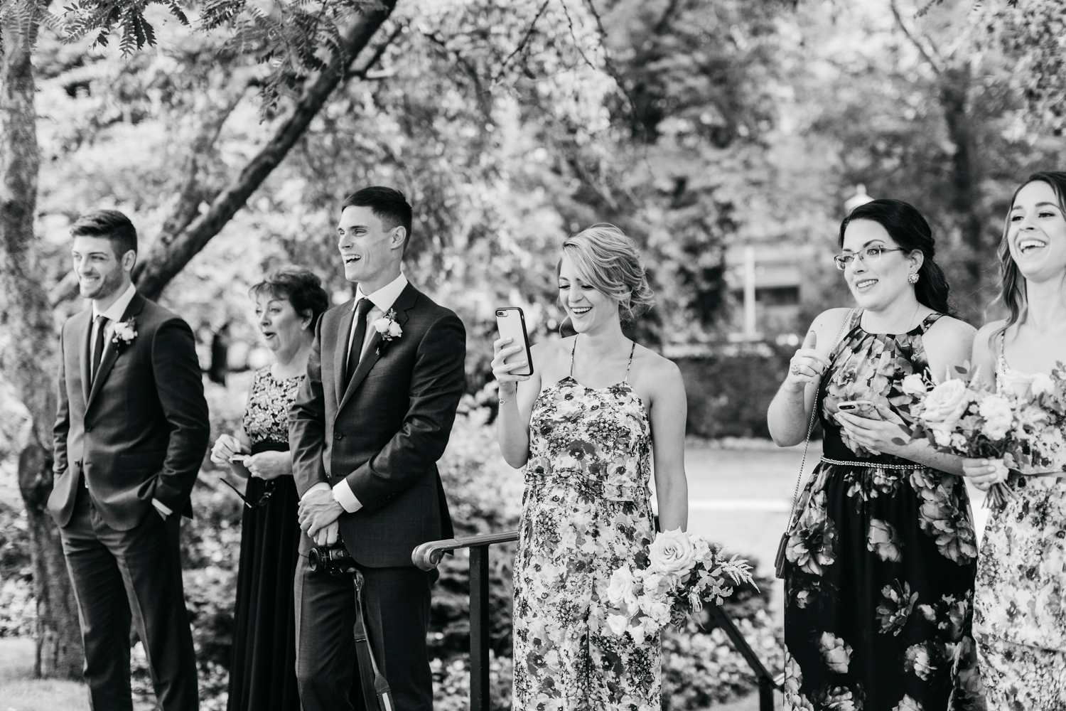Family react to bride and groom's first look at Osgoode hall