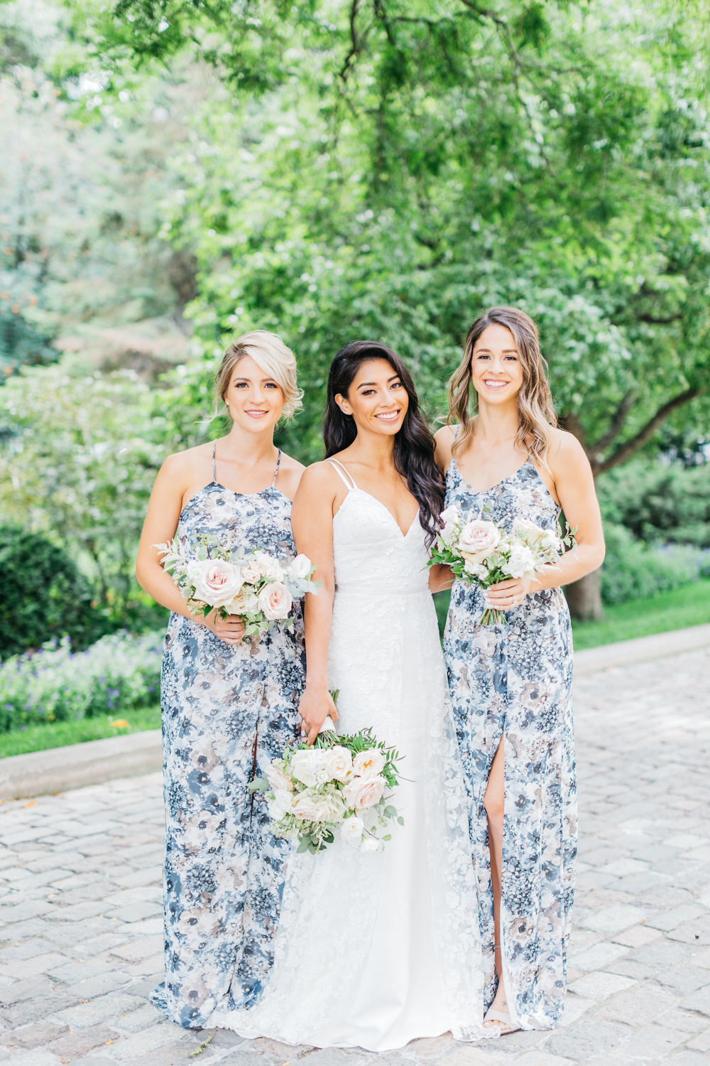 Bride with bridesmaids at Osgoode hall