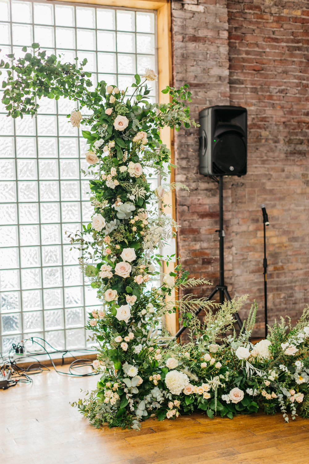 Ceremony details at The Glass Factory at 99 Sudbury