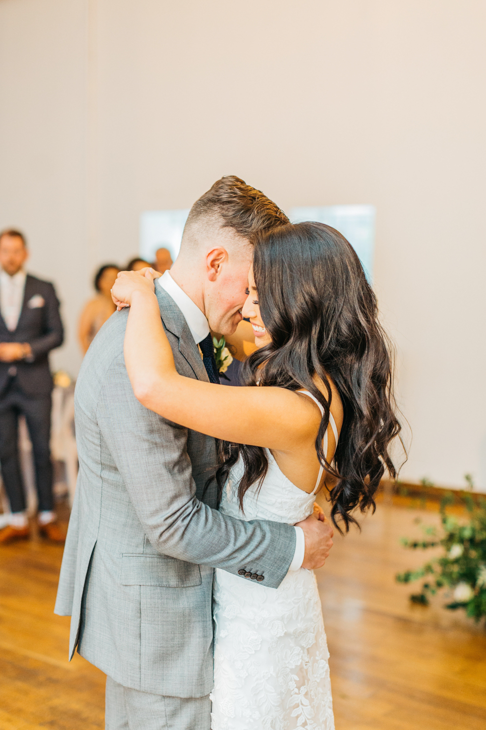 Bride and groom's first dance at 99 Sudbury The Glass Factory