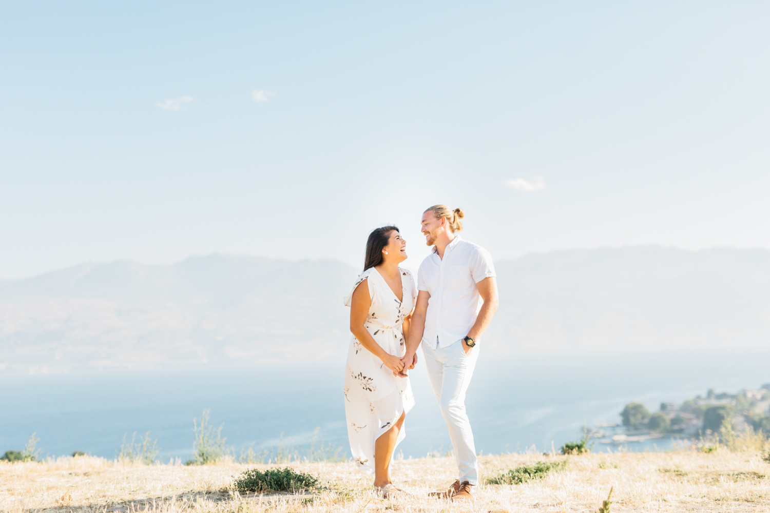 Couple laughing at Quails' Gate Estate & Winery
