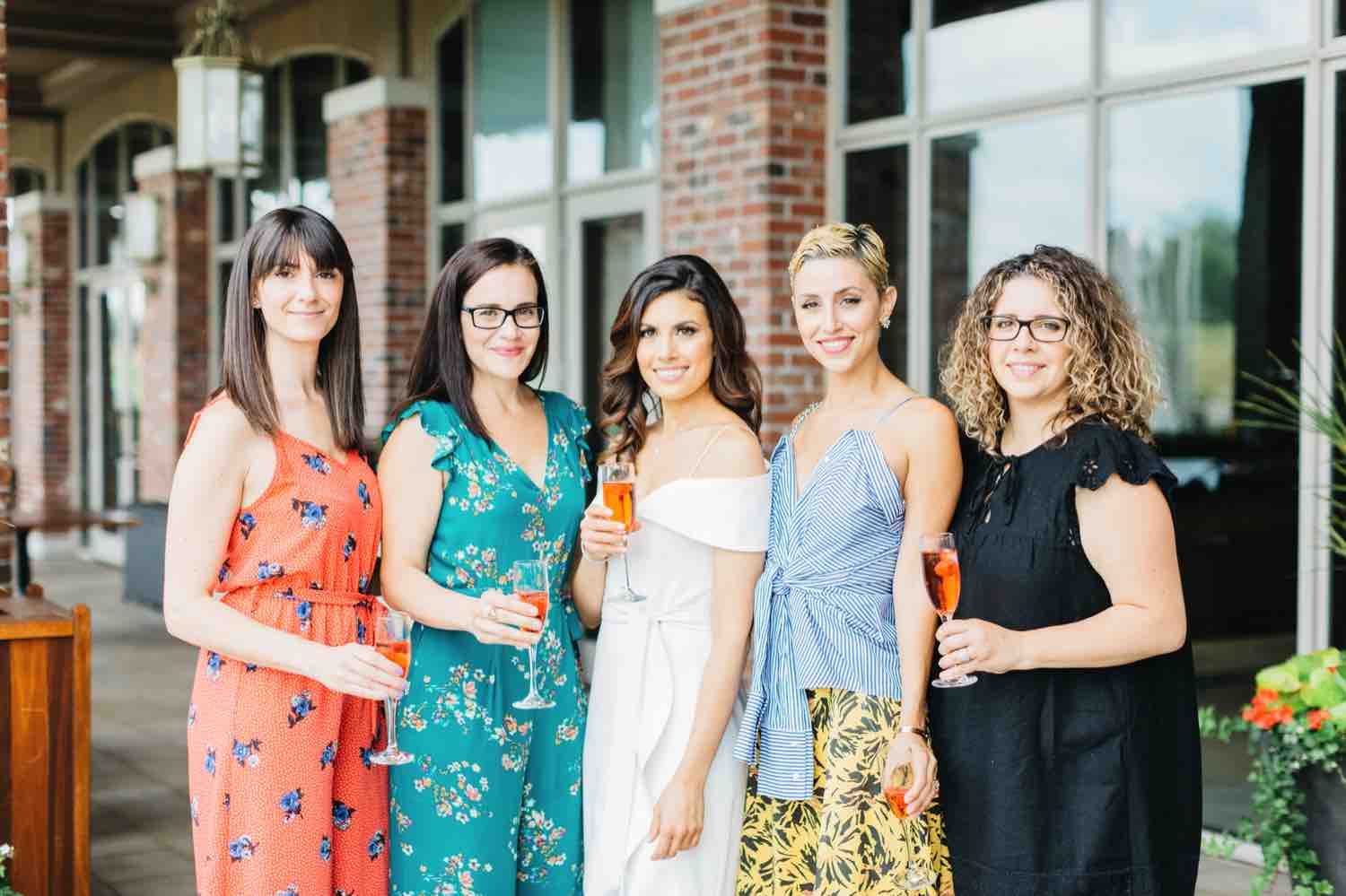Guests mingling during Bridal shower at Eagles Nest Golf Club in Vaughan