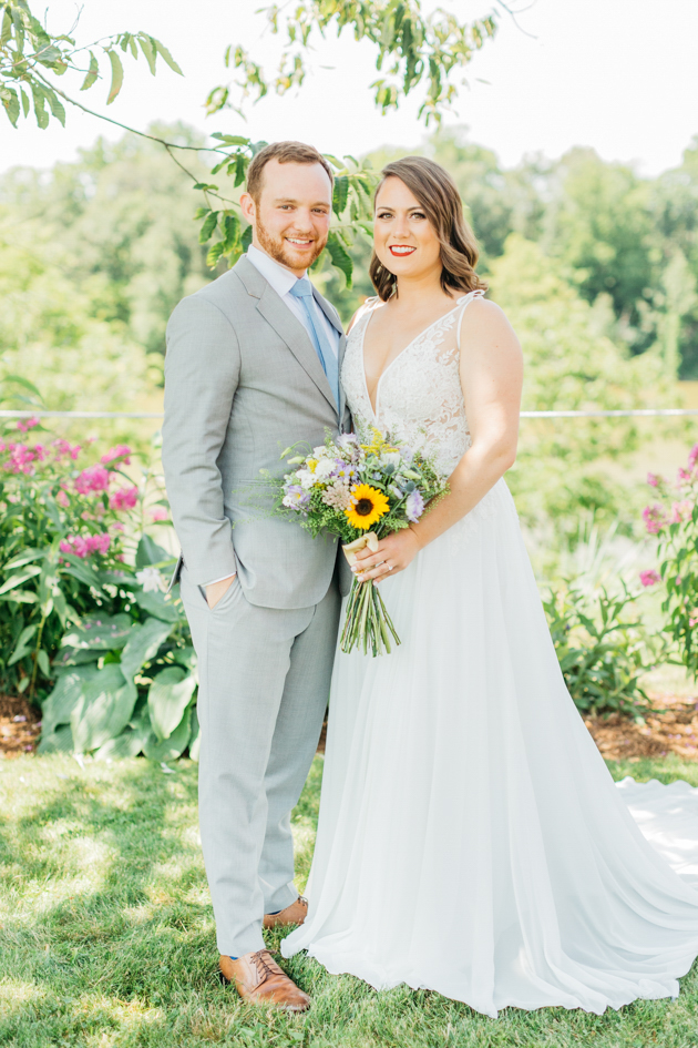 Bride and groom portrait at Stonewall Estates