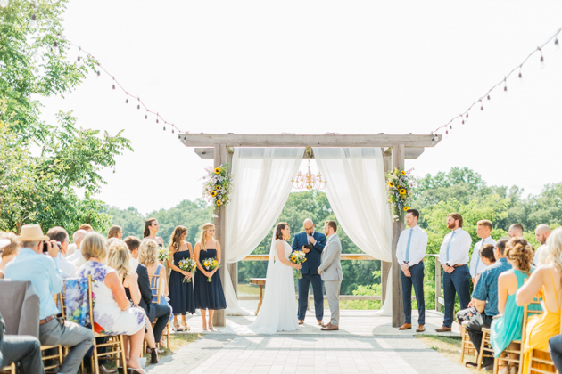 Wide shot of ceremony space at Stonewall Estates